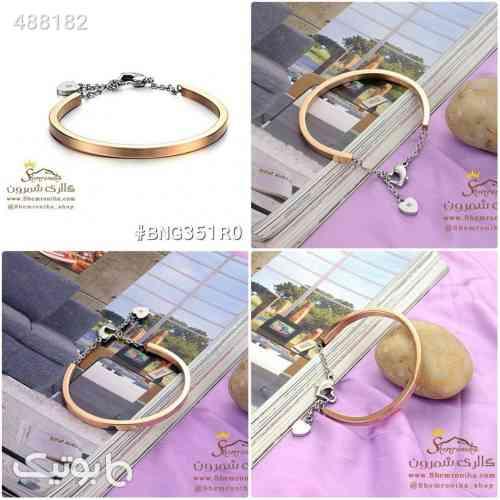 دستبند آویز قلب و قفل طلایی 99 2020