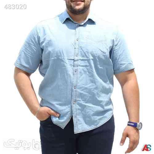 پیراهن جین سایز بزرگ کد محصول GBE1110 آبی 99 2020
