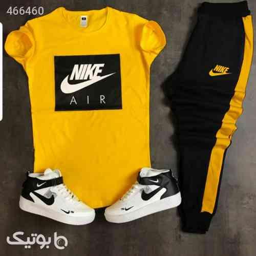ست تیشرت وشلوار مردانه Nike مد زرد 99 2020