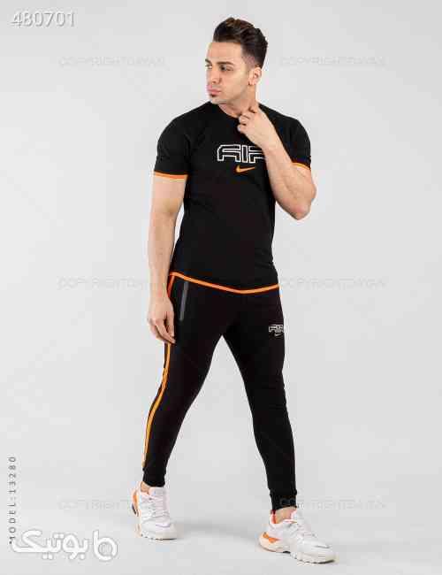ست تیشرت و شلوار مردانه Nike مدل 13280 مشکی 99 2020