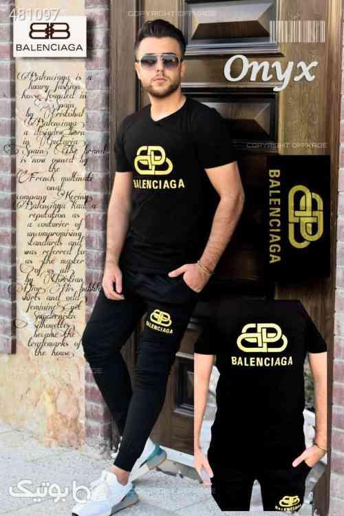ست تی شرت و شلوار مردانه مدل Onyx  مشکی 99 2020