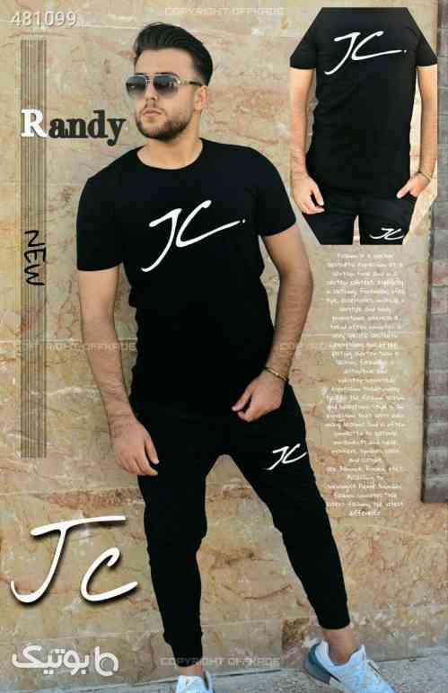 ست تی شرت و شلوار مردانه مدل Randy مشکی 99 2020