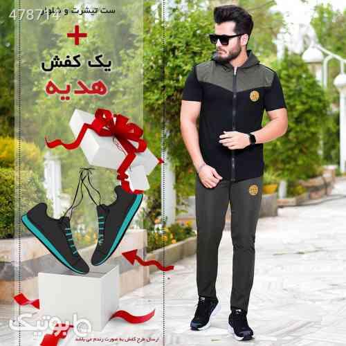 ست مردانه + کفش هدیه  مشکی 99 2020
