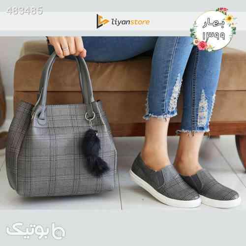 ست کیف و کفش زنانه مدل s06_ burberry طوسی 99 2020