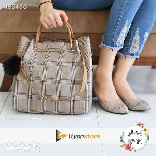 ست کیف و کفش زنانه مدل s07_ burberry طوسی 99 2020