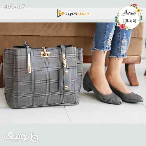 ست کیف و کفش زنانه مدل s08_ burberry طوسی 99 2020