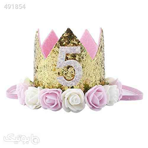 Baby Princess Tiara Crown, Baby Girls/Kids First Birthday Hat Sparkle Gold Flower Style with Artificial Rose Flower بنفش 99 2020