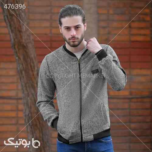 سوئيشرت بافت مردانه مدل HUBAN طوسی 99 2020
