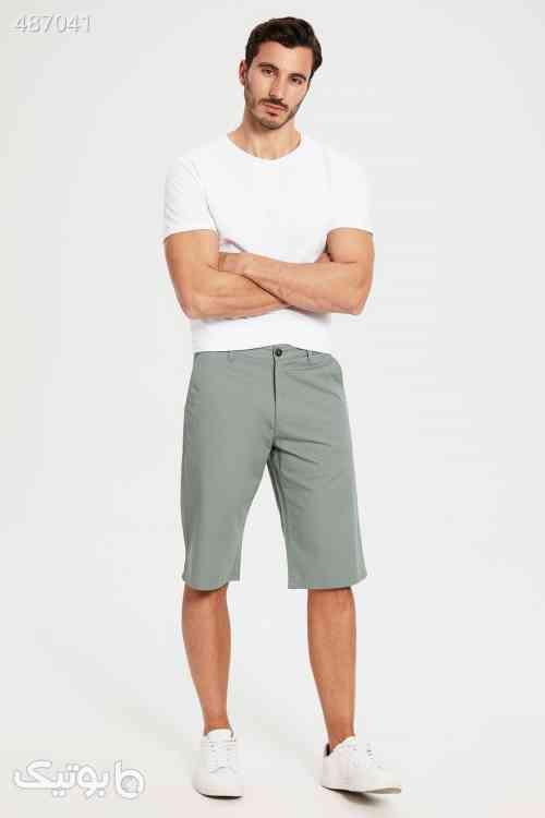 شلوارک مات سبز مردانه برند LC Waikiki کد 1593058839 طوسی 99 2020