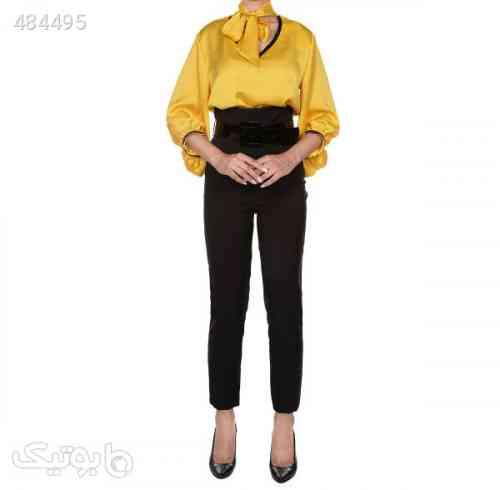شلوار زنانه مجلسی فاق بلند گردیه Gordye زرد 99 2020