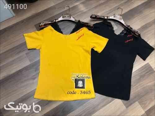 تی شرت بسیار زیبا و شیک زرد 99 2020