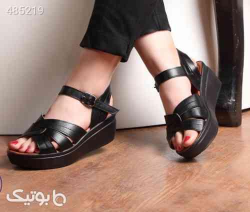 کفش چرم اصل تابستانه مشکی 99 2020