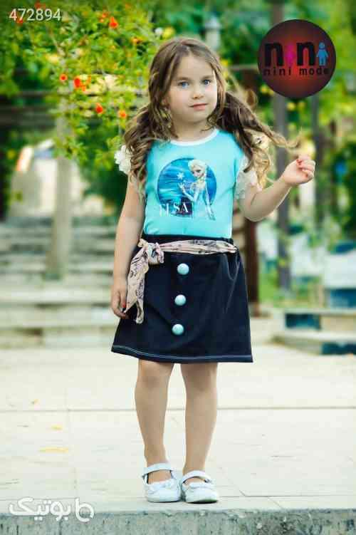 ست تیشرت و دامن السا - لباس کودک دخترانه
