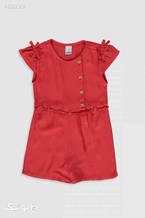 کودک دخترانه قرمز روشن سالوپت برند LC Waikiki کد 1593118964 - لباس کودک دخترانه