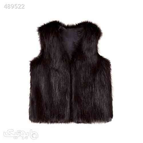 Fineser TM Baby Girls Soft and Cozy Open Front Faux Fur Vest Winter Thick Warm Sleeveless Jacket مشکی 99 2020