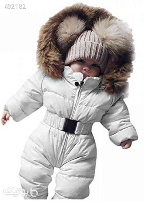 Newborn Infant Baby Boys Girls Snowsuits Hoodie Jumpsuit Winter Warm Padded Thick Coat Outfit سفید 99 2020