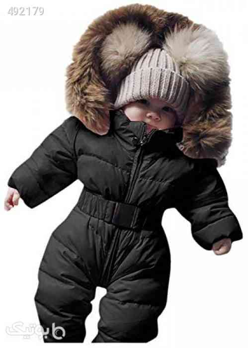 Newborn Infant Baby Boys Girls Snowsuits Hoodie Jumpsuit Winter Warm Padded Thick Coat Outfit (Black, Recommended Age:6-9 Months) مشکی 99 2020