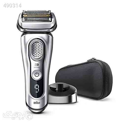 Braun Electric Razor for Men, Series 9 9330s Electric Shaver, Pop-Up Precision Trimmer, Rechargeable, Wet & Dry Foil Shaver with Travel Case, Silver نقره ای 99 2020