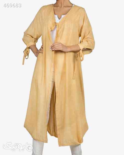 مانتو تابستانی بلند زنانه - عسلی زرد 99 2020