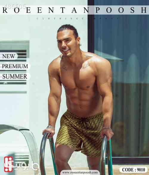 مایو شنا مردانه طلایی 99 2020