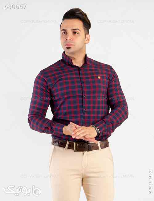 پیراهن مردانه Sevin مدل 14091 زرشکی 99 2020
