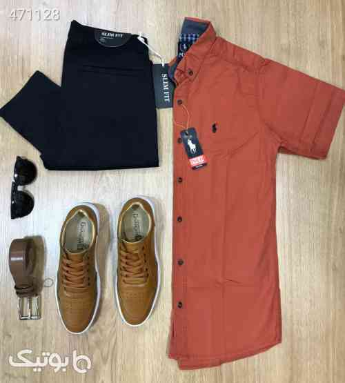 پیراهن کتان(شلوار و کفش موجود است) نارنجی 99 2020