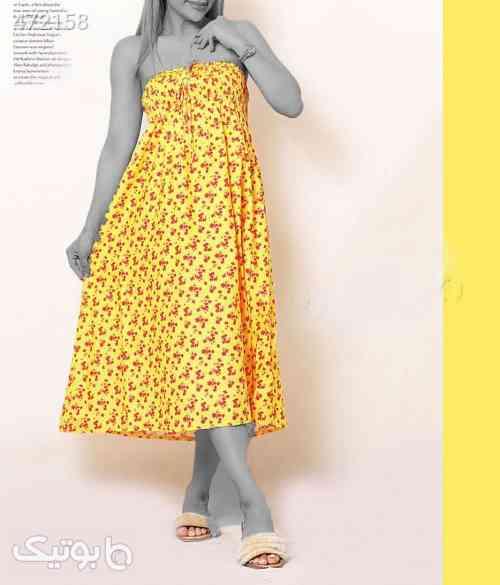 پیراهن بسیار زیبای بانو زرد 99 2020
