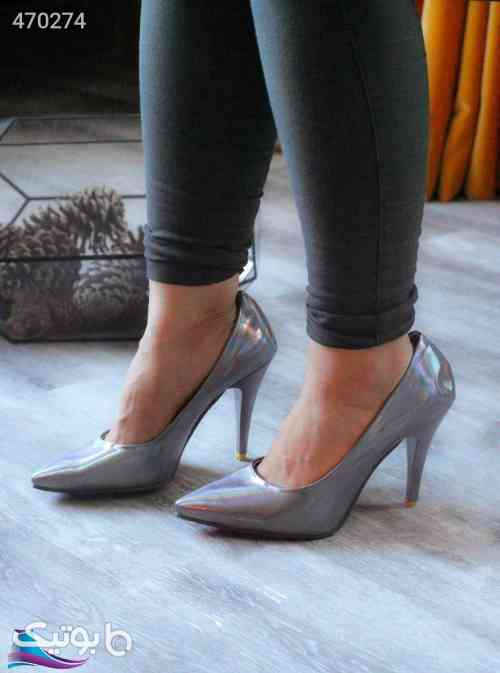 کفش آینه نقره ای 99 2020