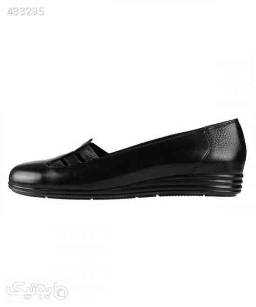 کفش راحتی زنانه چرم شیفر Shifer مدل 5318B مشکی 99 2020