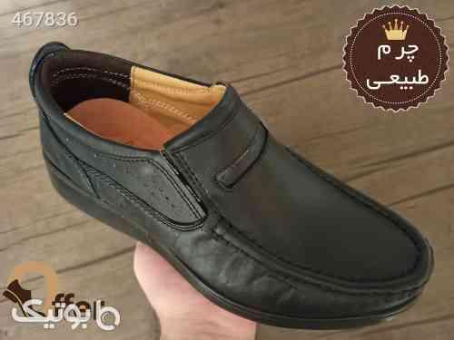 کفش طبی مردانه چرم طبیعی کد 1041 مشکی 99 2020