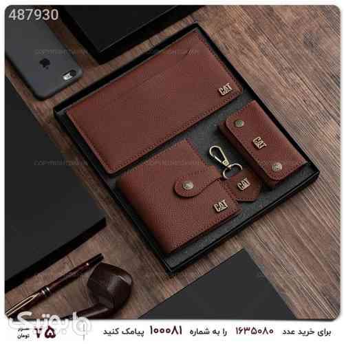 ست کیف چرمی مردانه قهوه ای 99 2020