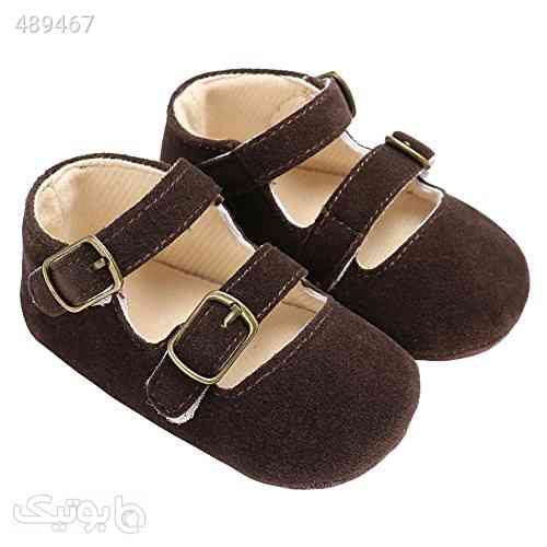 Baby Girls Double Buckle Straps Suede Mary Jane Soft Sole Princess Dress Shoes قهوه ای 99 2020
