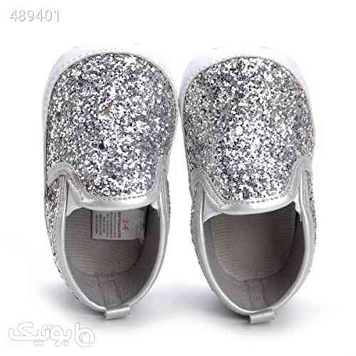 HONGTEYA Baby Boy Girls Sequin Crib Shoes Toddler Casual Glitter Moccasins Shoes Kids Sneakers نقره ای 99 2020