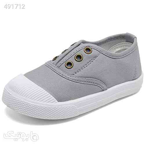 Kids Canvas Sneaker Slip-on Baby Boys Girls Casual Fashion Shoes طوسی 99 2020
