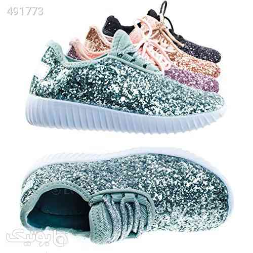 Link Lace up Rock Glitter Fashion Sneaker For Children/Girl/Kids نقره ای 99 2020