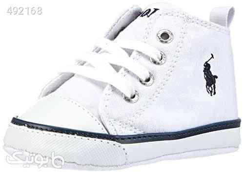 Ralph Lauren Layette Harbour Hi Top Canvas Tie Shoe (Infant/Toddler) سفید 99 2020