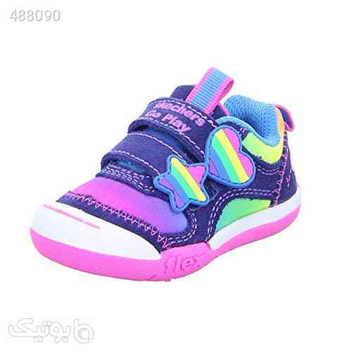 Skechers Baby Girls' Flex Play-Rainbow Dash Infant-Toddler Sneaker - کیف و کفش بچگانه