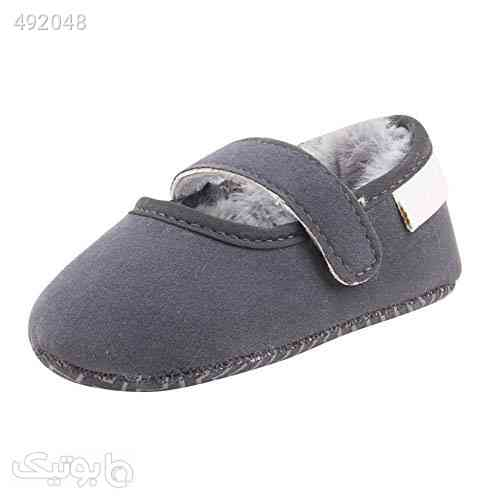 Weixinbuy Toddler Baby Girl's Anti-Slip Soft Soled Faux Fur Solid Color Winter Shoes طوسی 99 2020