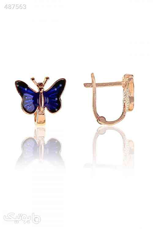 گوشواره مدل پروانه نقره ای زنانه برند Söğütlü Silver کد 1592859703 سورمه ای 99 2020