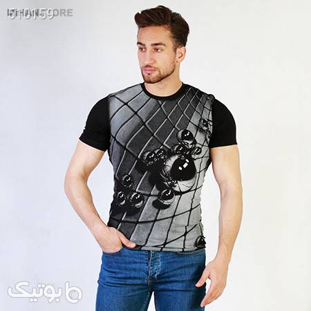 تی شرت سه بعدی Marbles مشکی تی شرت و پولو شرت مردانه