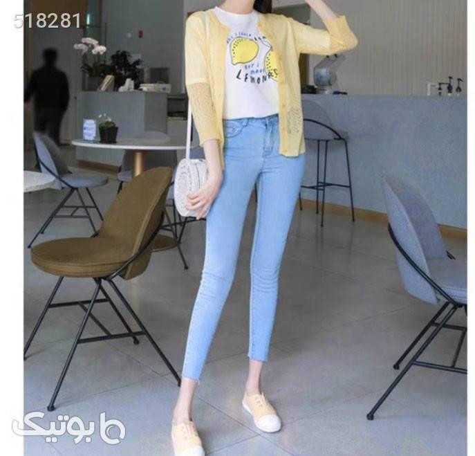 شلوار دخترانه  سورمه ای شلوار جین زنانه