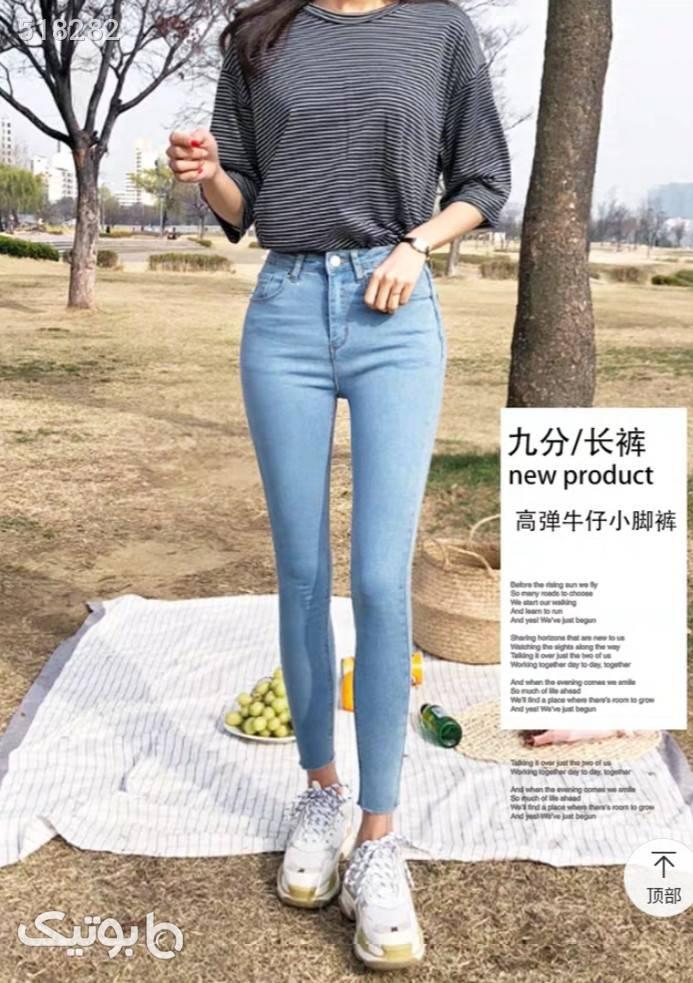 شلوار دخترانه  آبی شلوار جین زنانه