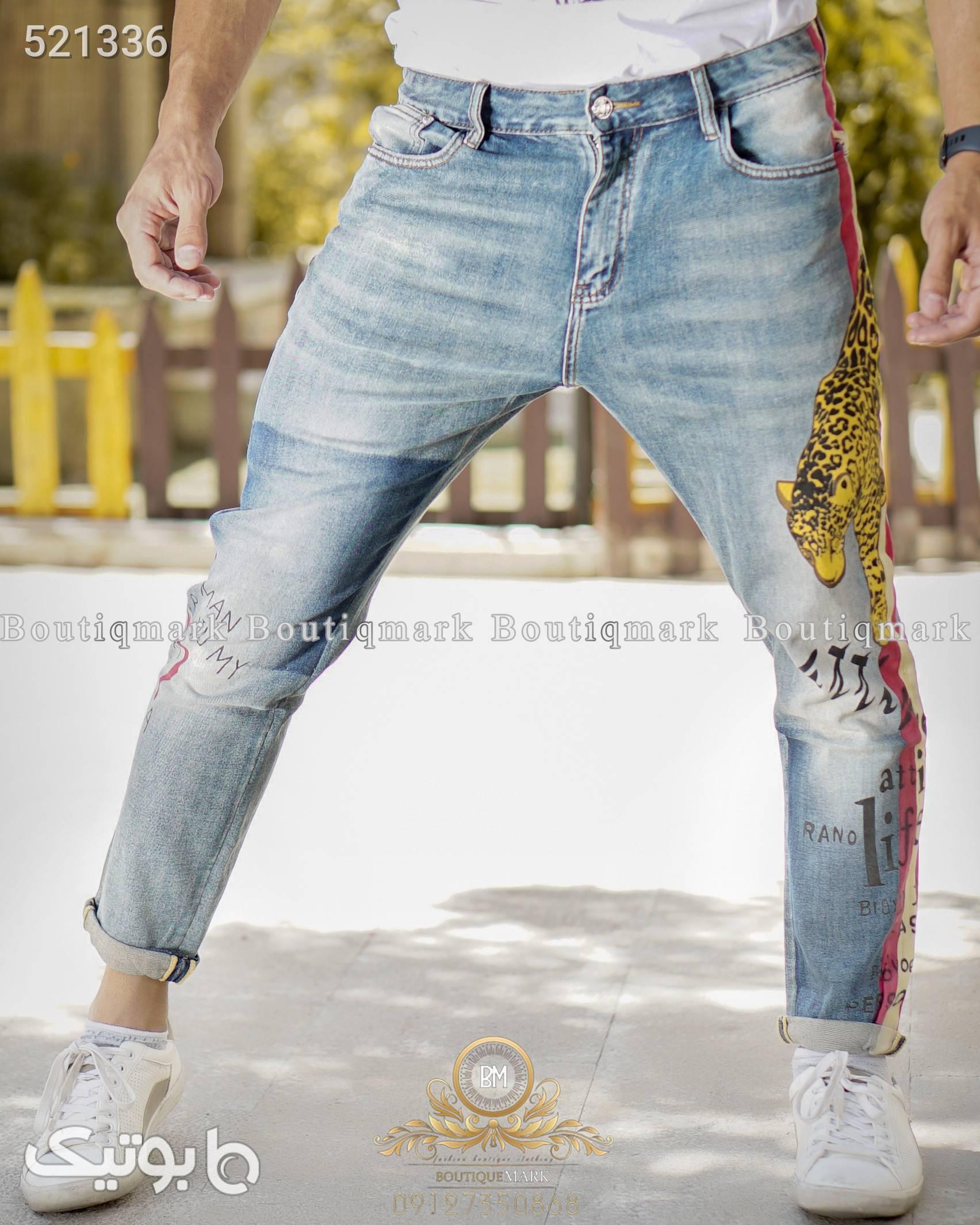 شلوار اورجینال سورمه ای شلوار جین مردانه