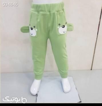 شلوار راحتی سبز لباس کودک دخترانه