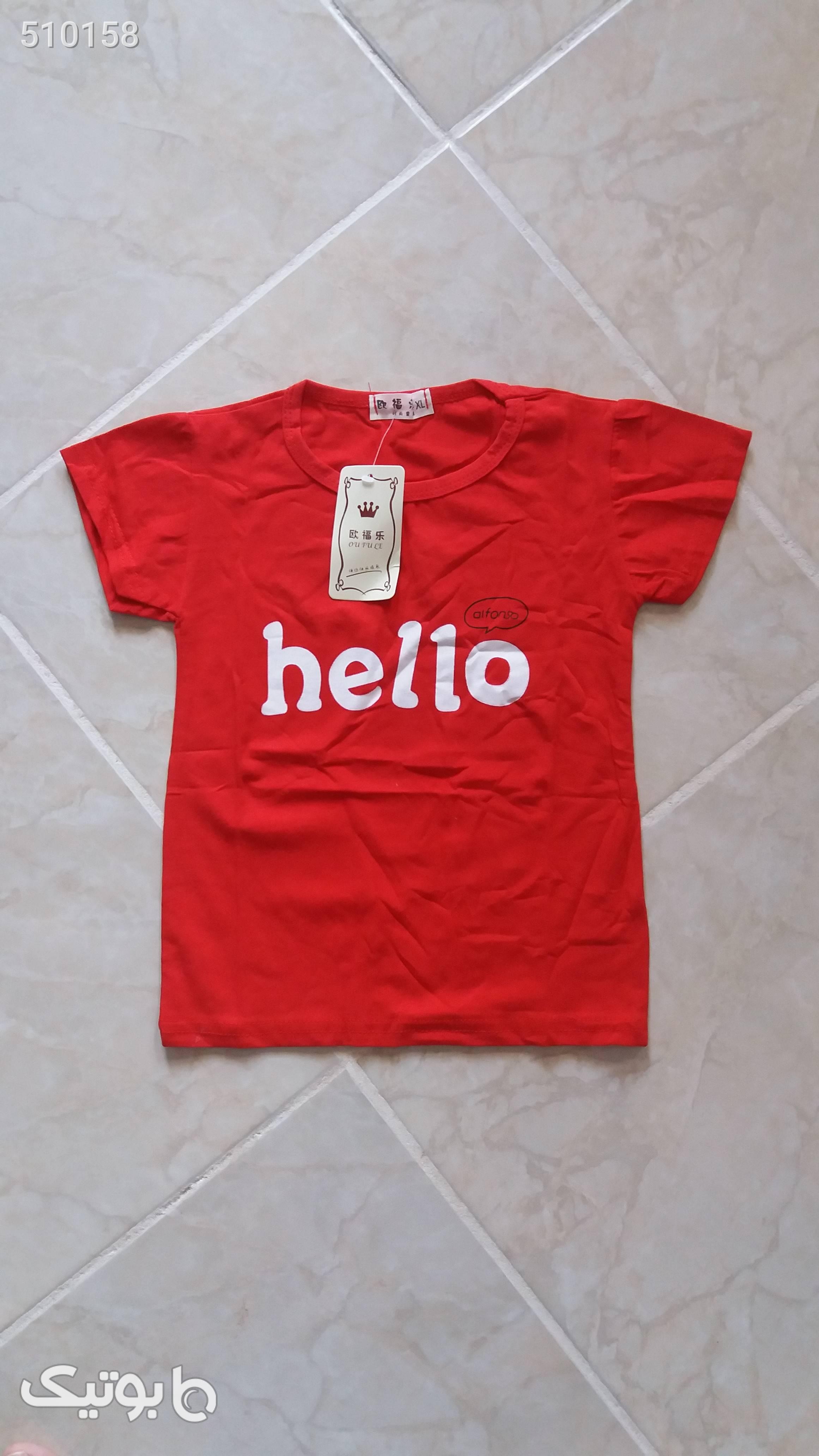 تی شرت پسرانه قرمز لباس کودک پسرانه