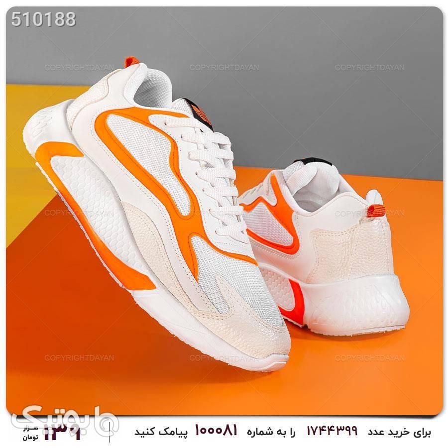 کفش مردانه ادیداس لژ دار نارنجی كفش مردانه