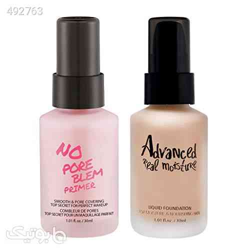 TOUCH IN SOL No Pore Blem Primer 30ml + Advanced Real Moisture Liquid Foundation 30ml (#21 Set) صورتی 99 2020