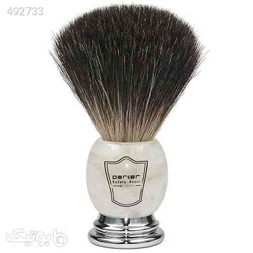 Parker Safety Razor 100% Premium Black Badger Bristle Shaving Brush with Ivory Marbled Handle - Brush Stand Included سفید 99 2020