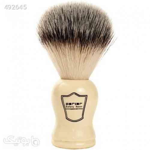 Parker Safety Razor Synthetic Bristle Shaving Brush with Classic Ivory Handle - Brush Stand Included کرم 99 2020