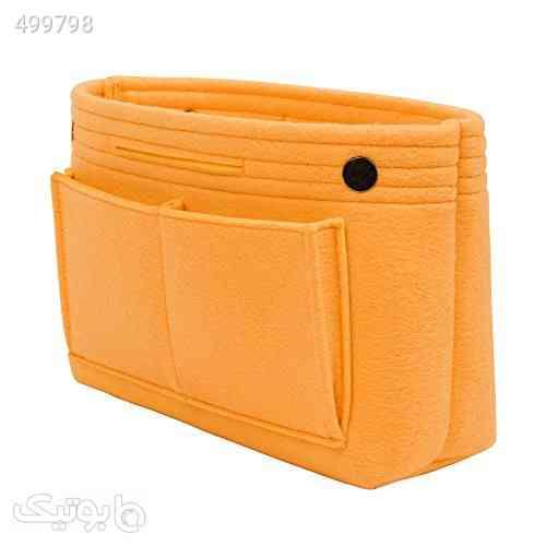TOPHOME Purse Organizer Bag in Bag Cosmetic Storage Makeup Organizers Felt Container Organizer Storage Bag Organizing Home Girl Handbag Orange نارنجی 99 2020
